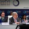 O secretário-geral da ONU, António Guterres, discursou na reunião de alto nível da Conferência sobre Mudança Climática da ONU, COP 25, em Madri.
