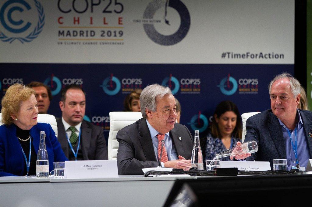 Photo : CCNUCC - Le secrétaire général de l'ONU à la COP 25