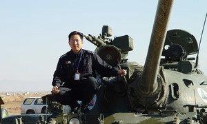 联合国塞浦路斯维和部队(联塞部队)代理警察总监苏东旭在阿富汗。