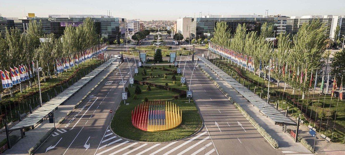 第25届联合国气候变化大会在西班牙马德里的举办点——马德里会展中心俯瞰图。
