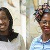 Racky Balde (à gauche) et Tatenda Zinyemba (à droite) sont doctorantes à l'Université des Nations Unies à Maastricht  au Pays Bas.