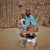 Amarcia, is one of the 1.5 million people who have been displaced in Niger by conflict in the central Sahel region.