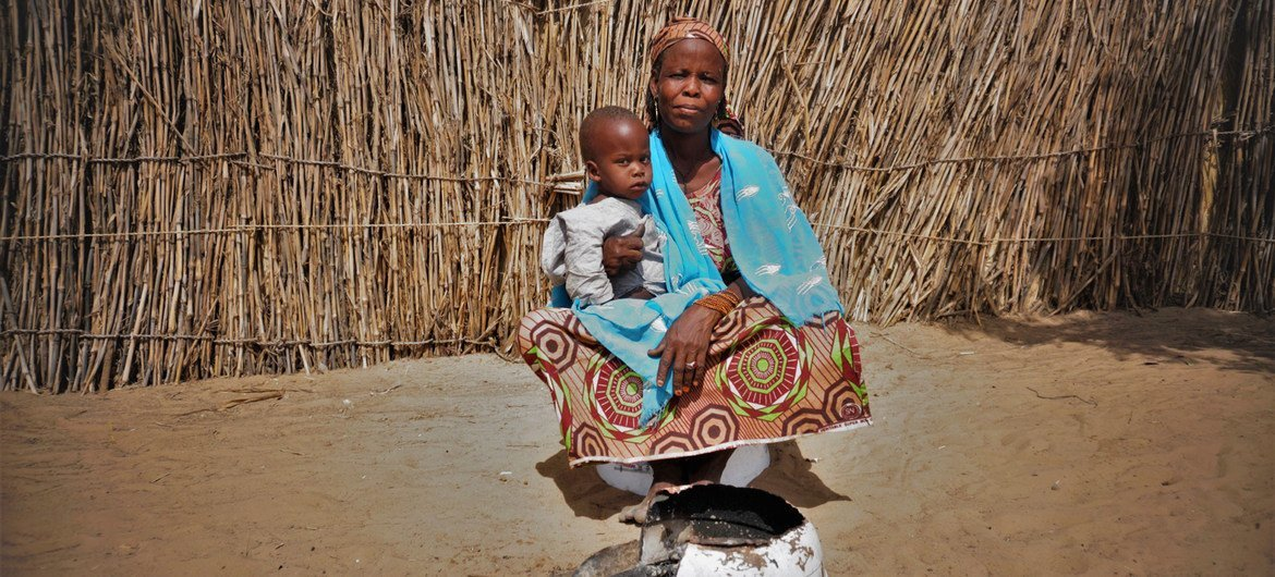 Amarcia is one of the 1.5 million people who have been displaced in Niger by conflict in the central Sahel region.