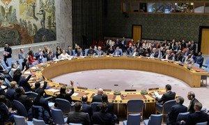 منظر عام لمجلس الأمن أثناء تداولاته بشأن تبني قرار 2510 الخاص بوقف إطلاق النار في ليبيا