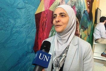 الدكتورة رنا دجاني  تتحدث إلى أخبار الأمم المتحدة.