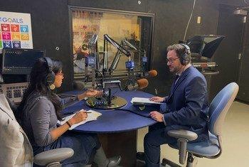 Sinduja Srinivasan, UNcomplicated podcast host, interviews Nick Birnback, Strategic Communications Chief, UN Department of Peace Operations.
