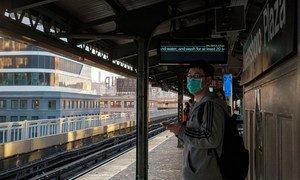 Le métro de New York quand les habitants ont commencé à rester chez eux à cause de Covid-19.