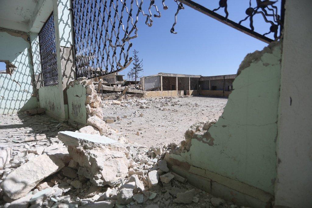 2020年2月,位于叙利亚西北部伊德利卜的坎萨弗拉小学遭到袭击。