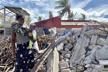 Vítima do ciclone Idai na Beira.