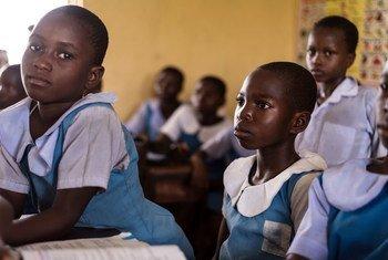 School children studying at Urie Primary School, Delta State, Nigeria. (file)
