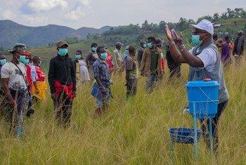 在刚果民主共和国的南基维,一个武装团体应当局和联刚稳定团的呼吁,交出了武器。
