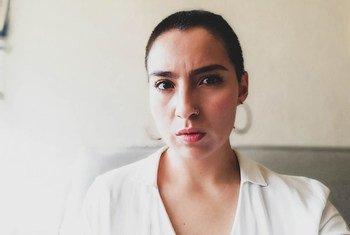 Autorretrato de la periodsta mexicana Alejandra Crail, ganadora de la edición 2020 del premio Breach/Valdez de periodismo y derechos humanos
