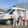 UNDP in Ukraine worked with community groups to provide protection masks and suits to medics to help fight the coronavirus pandemic.