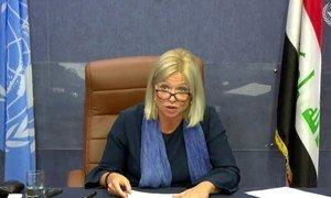 L'envoyée de l'ONU en Iraq, Jeanine Hennis-Plasschaert (photo d'archives).