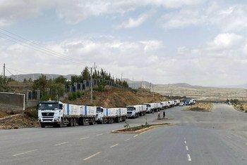 Há 170 caminhões seguindo para Tigray com alimentos e outros suprimentos impedidos de se movimentar