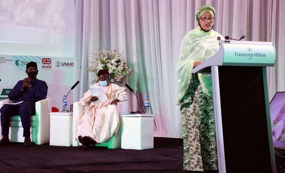 UN Deputy Secretary-General Amina J. Mohammed addresses the Nigeria nationalist  consolidatory dialog  successful  Abuja.
