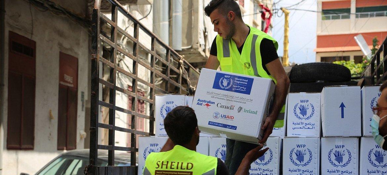 Ajuda alimentar do PMA chegando ao Líbano