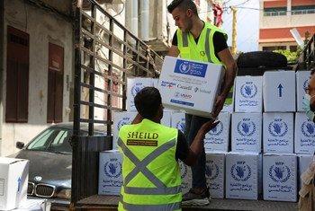 Livraison de l'aide du PAM au Liban.