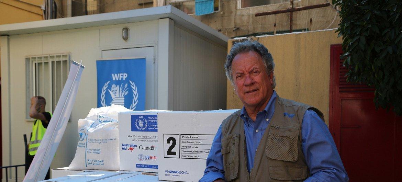 世界粮食计划署执行主任在黎巴嫩首都贝鲁特进行访问。