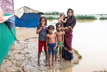 Strong winds and heavy monsoon rain in Bangladesh's Cox's Bazar have taken a severe toll on Rohingya refugees sheltering there, much as it did to the family photographed here in 2019.