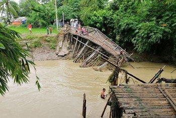 مفوضية الأمم المتحدة السامية لشؤون اللاجئين تساعد آلاف المتضررين من العواصف الموسمية في مخيمات اللاجئين الروهينجا- أيلول/سبتمبر 2019