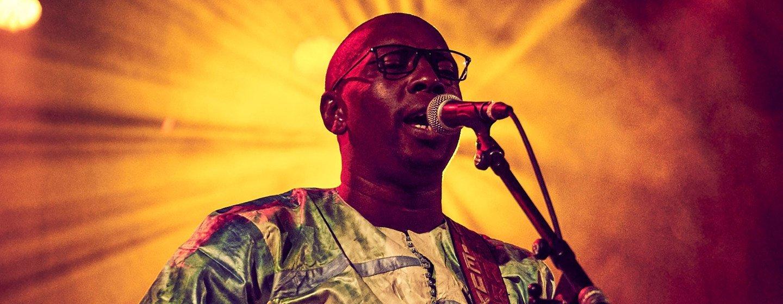 Malian singer and guitarist Vieux Farka Touré.