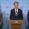 بيان يقرأه الممثل الألماني في الأمم المتحدة، كريستوف هوسجن، نيابة عن ألمانيا وبلجيكا والكويت بشأن تقديم المساعدات إلى سوريا عبر الحدود