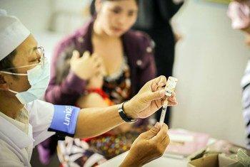 La ONU apoya la campaña de vacunación en el sureste asiático.