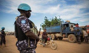 UN peacekeepers patrol the Menaka region in northeast Mali.