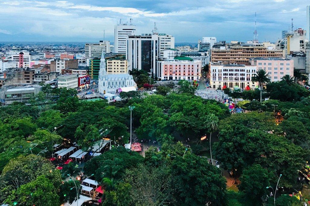 哥伦比亚西部城市卡利。