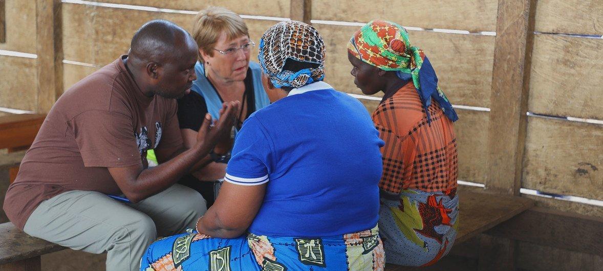 La Haute-Commissaire des Nations Unies aux droits de l'homme, Michelle Bachelet, visite Bunia en République démocratique du Congo (janvier 2020).