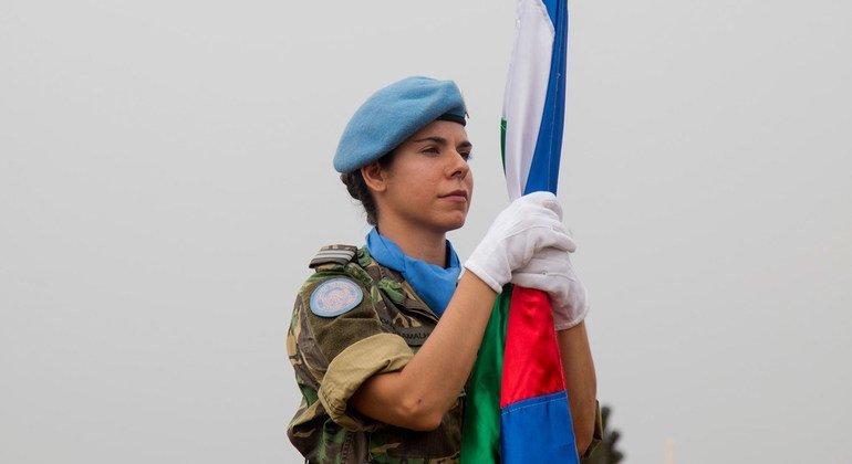 Em fevereiro de 2020, havia 180 soldados portugueses de manutenção da paz da ONU destacados para a força de reação rápida da Minusca
