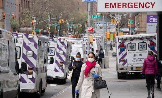 Нью-Йорк стал одним из крупнейших очагов эпидемии коронавируса на территории США
