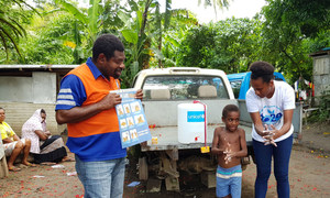 Children on the Pacific Ocean island of Vanuatu are learning, thanks to UNICEF, how to protect themselves against  COVID-19 by proper hand-washing.