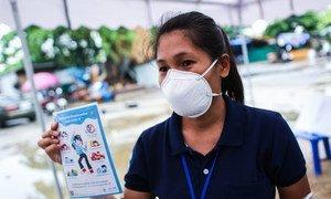 Pendant la pandémie de coronavirus, des conseils en matière de santé mentale sont diffusés pour les enfants et leurs familles à Bangkok, en Thaïlande.