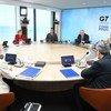 ब्रिटेन के कॉर्नवॉल में जी-7 समूह की बैठक.