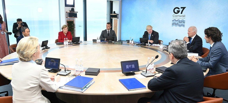 Встреча лидеров «большой семерки»в британском Корнуолле