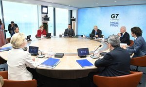 G7 leaders plenary: Building back better from COVID19, Cornwall, UK.