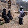 سابا عاملة صحية مجتمعية في عمران، باليمن.