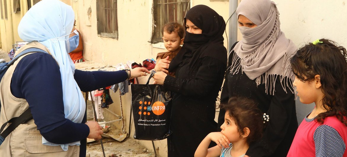 UNFPA distributed dignity kits to women successful  Beirut pursuing  the devastating explosion.