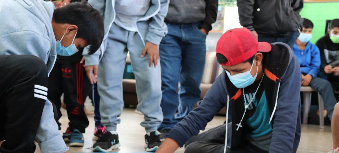 Teenagers at Casa Nuestras Raíces, one of two shelters run by the Guatemalan Ministry of Social Welfare.