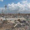 Un aperçu des destructions massives provoquées par l'ouragan Dorian à Marsh Harbour, sur l'île Abacos, aux Bahamas, le 11 septembre 2019. António Guterres est arrivé dans l'Etat des Caraïbes le 13 septembre pour afficher la solidarité des Nations Unies.