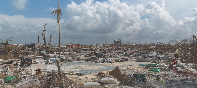 Vista de la destrucción causada por el huracán Dorian en el puerto de Marsh, en la isla de Ábaco, en las Bahamas.