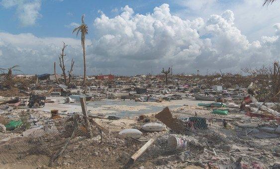 Vista da destruíção nas Bahamas causada pela passagem do pelo furacão Dorian.