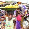 Children working at the market in the town of Korhogo, in the North West of Côte d'Ivoire. (2017)