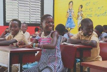 Watoto darasani Sakassou, Côte d'Ivoire.(8 Julai 2019) Chris Mburu anapigania elimu nchini mwake Kenya akiamini elimu ndiyo ufunguo wa kila kitu maishani