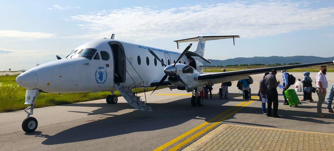 The UN Humanitarian Air Service (UNHAS) left Islamabad in Pakistan to make its first flight to Kabul since the Taliban took over government.