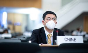 2020年6月30日,中国代表出席在日内瓦举行的人权理事会第44届会议。