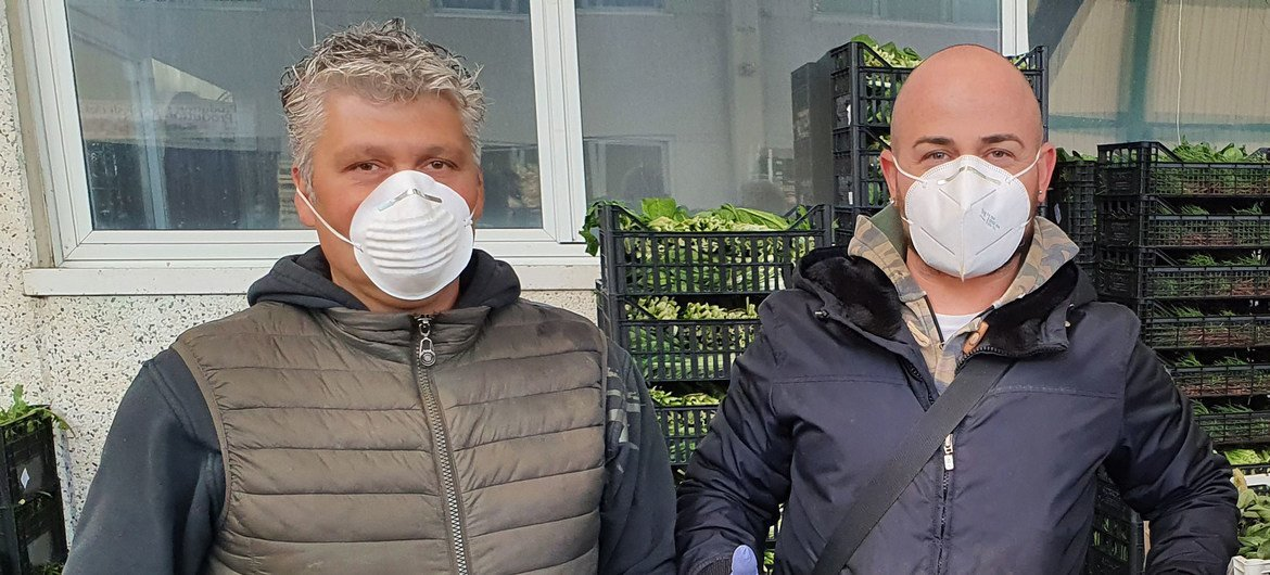 Members of the Centro Agroalimentare Roma food consortium continued to work during the COVID-19 lockdown in Italy.