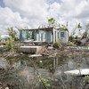 कैरीबियाई क्षेत्र में चक्रवाती तूफ़ान इरमा से हुई तबाही का दृश्य.